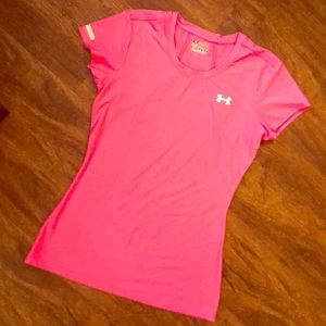 Neon Pink Under Armour T Shirt S